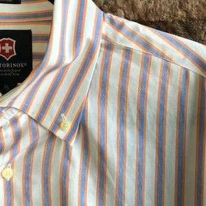 Victorinox Swiss Army Knife Striped Mens Shirt